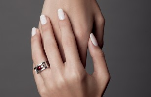 Ring Toits des Temples Pink tourmaline